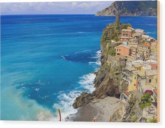 Vernazza Wood Print by Rick Starbuck
