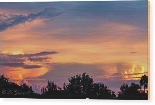 Vero Sunrise Wood Print