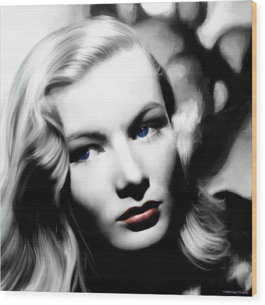 Veronica Lake Portrait #1 Wood Print
