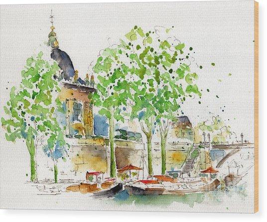 Vers Pont Des Artes Wood Print