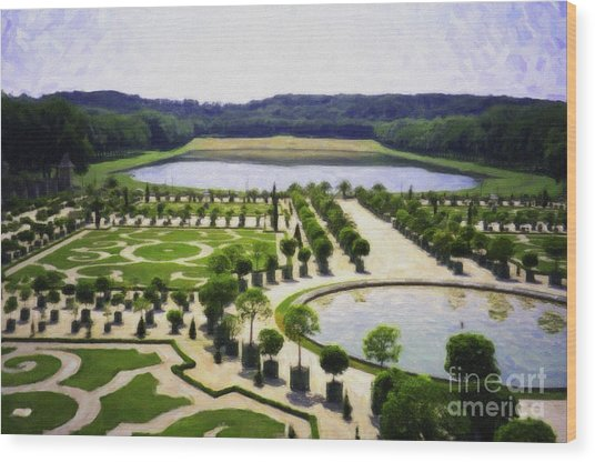 Versailles Digital Paint Wood Print