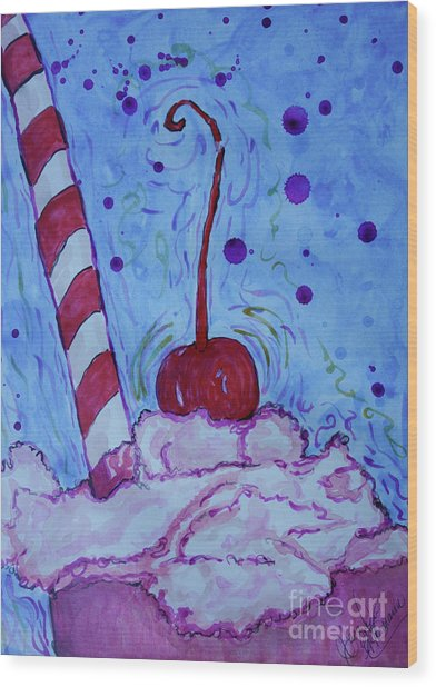 Very Cherry Soda Wood Print