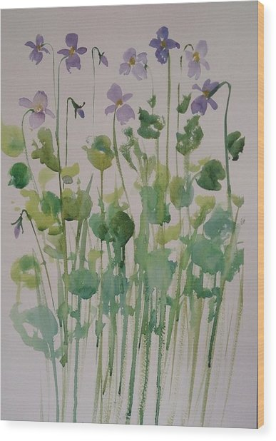 Very Violet Wood Print