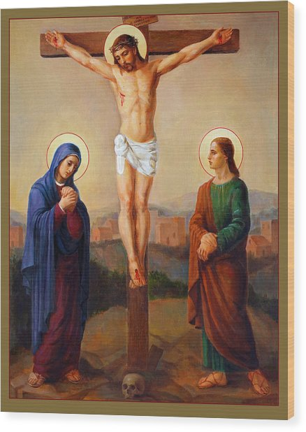 Via Dolorosa - Crucifixion - 12 Wood Print