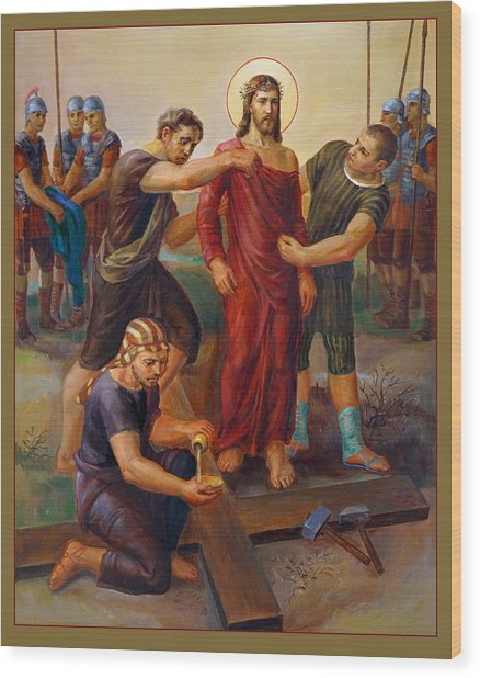 Via Dolorosa - Disrobing Of Christ - 10 Wood Print