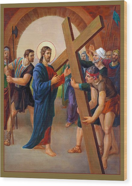 Via Dolorosa - Jesus Takes Up His Cross - 2 Wood Print