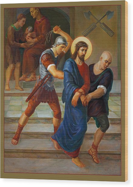 Via Dolorosa - Stations Of The Cross - 1 Wood Print