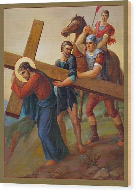 Via Dolorosa - Way Of The Cross - 5 Wood Print