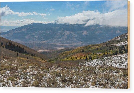 Vibrance Of The Storm Idaho Landscape Art By Kaylyn Franks Wood Print