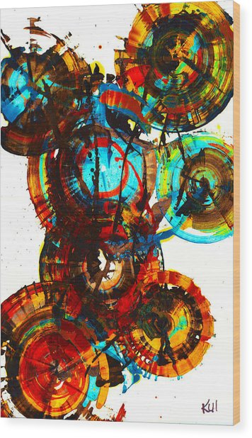 Vibrant Sphere Series 995.042312vsx2 Wood Print
