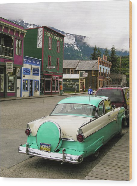 Vicky In Skagway Wood Print