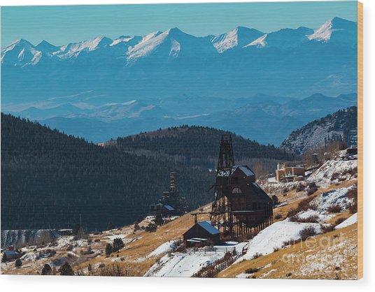 Victor Gold Mine Wood Print