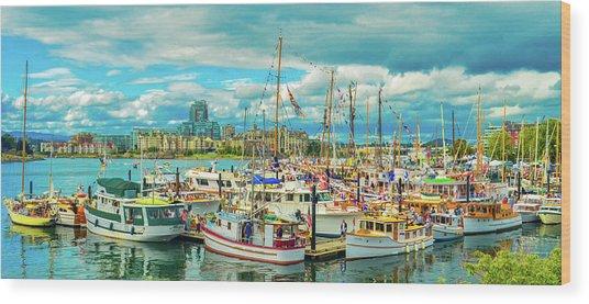 Victoria Harbor 2 Wood Print