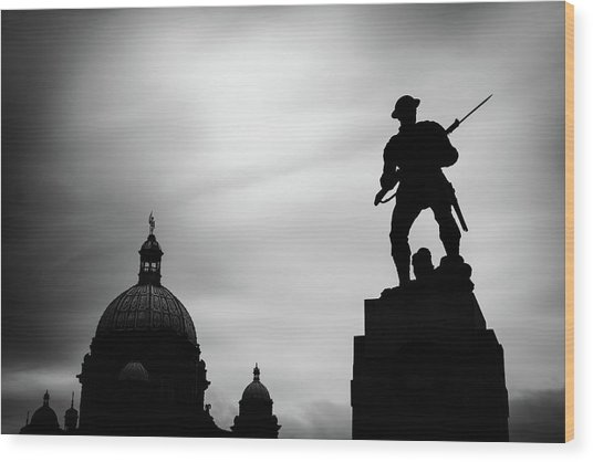 Victoria Silhouettes Wood Print