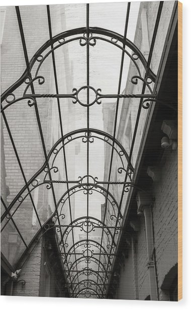 Victorian Glass Roof Wood Print