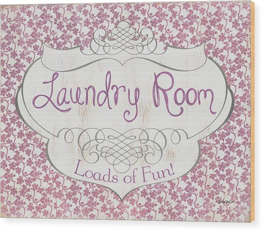 Victorian Laundry Room Wood Print