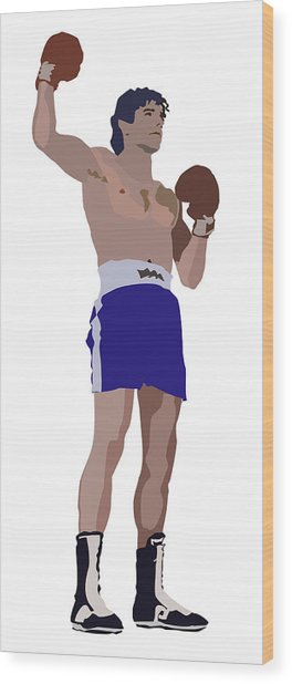 Victorious Boxer Wood Print by Robert Bissett