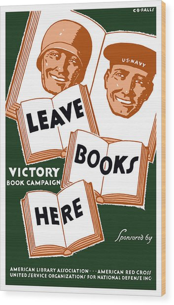 Victory Book Campaign - Wpa Wood Print