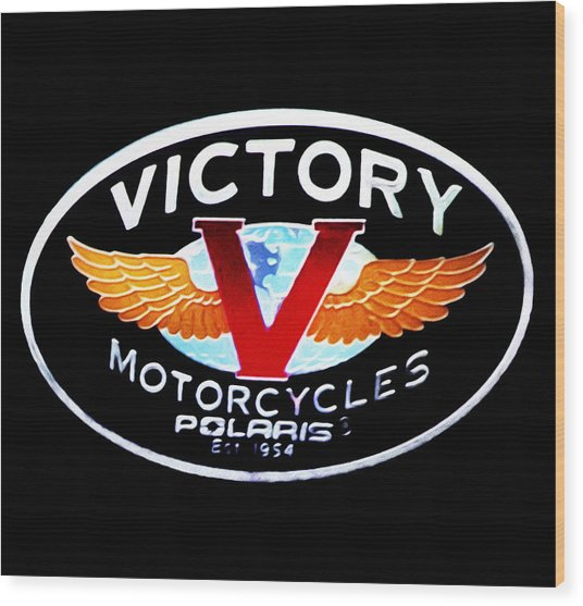 Victory Motorcycles Emblem Wood Print