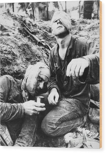 Vietnam War Medic 1966 Wood Print by Granger