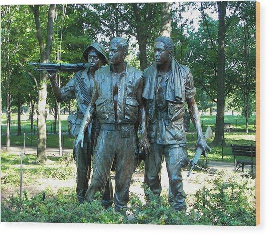 Vietnam War Memorial Statue Wood Print