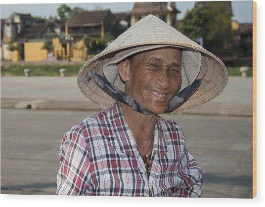 Vietnamese Street Vendor Wood Print