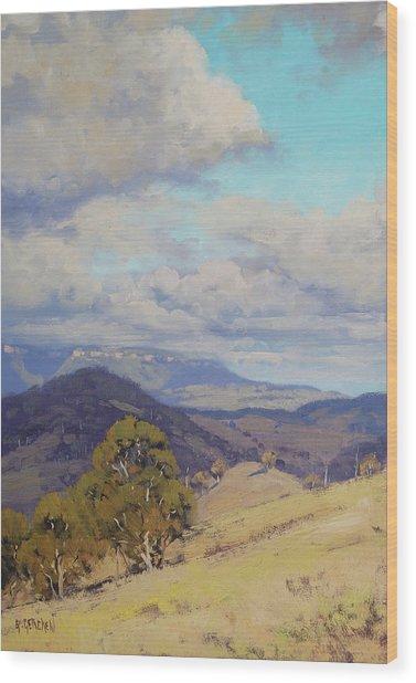 View Across The Kanimbla Valley Australia Wood Print