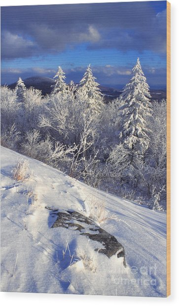 View Along Highland Scenic Highway Wood Print