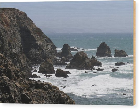 View From Bodega Head In Bodega Bay Ca - 4 Wood Print