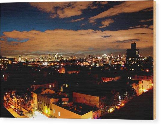 View From Brooklyn  Wood Print by Brian  Vitagliano