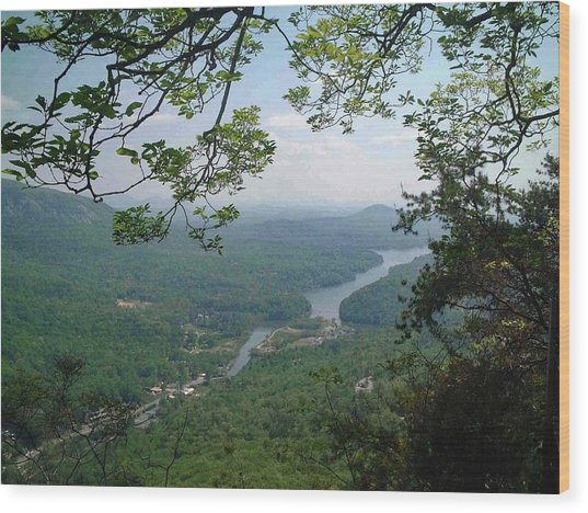 View From Chimney Rock, North Carolina Wood Print