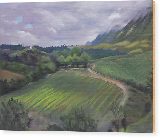 View From Creation Winery Wood Print