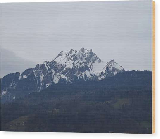 View From My Art Studio - Pilatus - March 2018 Wood Print