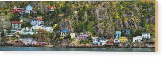View From The Harbor St Johns Newfoundland Canada Wood Print
