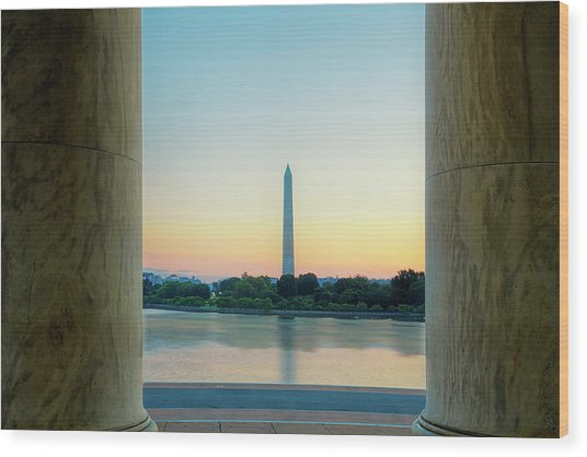 View From The Jefferson Memorial Wood Print