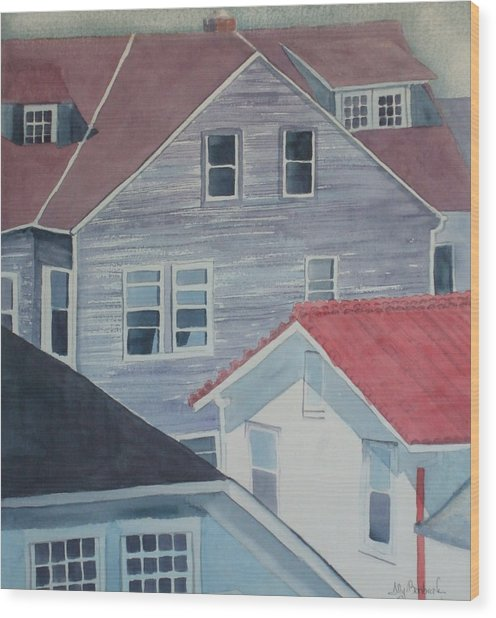 View From Theback Window Wood Print by Ally Benbrook