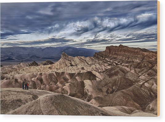 View From Zabriskie Point  Wood Print