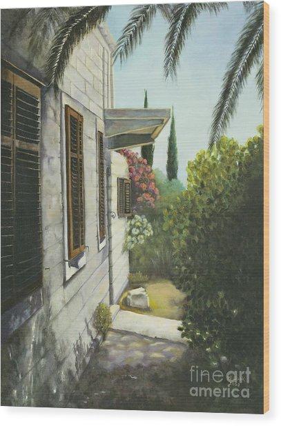 View In A Croatian Garden Wood Print