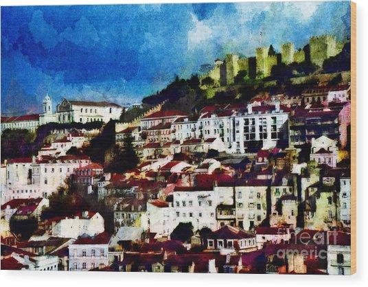 View Of Lisbon Wood Print