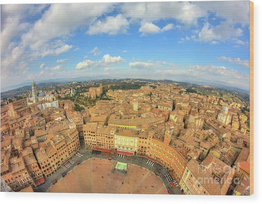 Wood Print featuring the photograph View Of Siena From Torre Del Mangia by Spencer Baugh