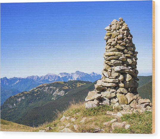 View Of The Apuan Alps Wood Print
