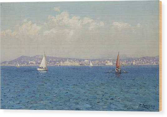 View Of The French Riviera Wood Print