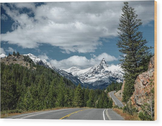 View Of The Pilot Peak From Highway 212 Wood Print