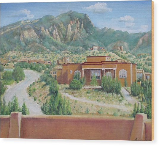 View Of The Sandias Wood Print
