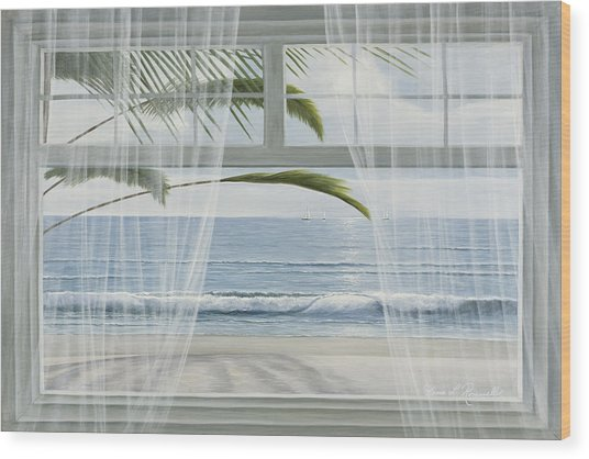 View Of The Tropics Wood Print