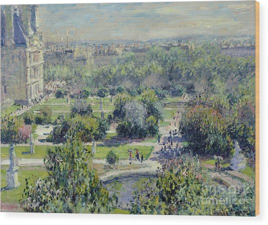View Of The Tuileries Gardens Wood Print
