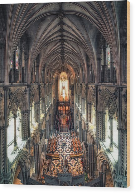 View Through Ely Cathedral Wood Print