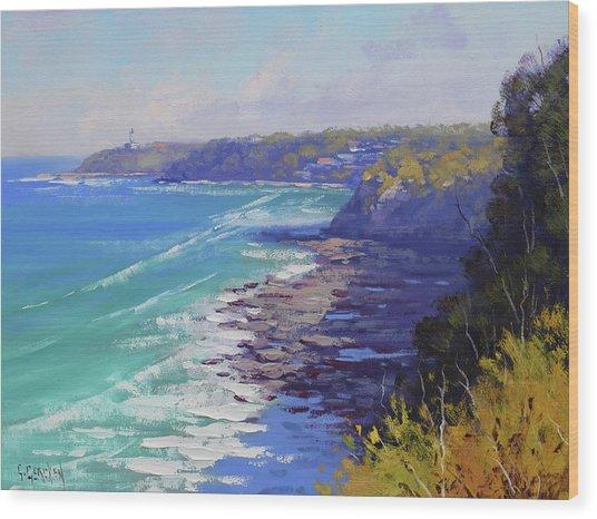 View To Norah Head Australia Wood Print