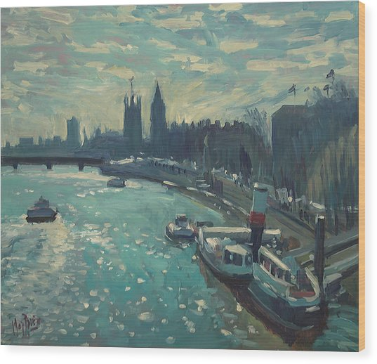View To Westminster London Wood Print