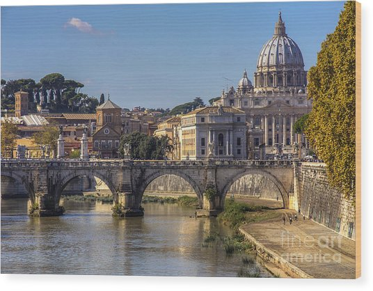 View Towards Saint Peter's Basilica Wood Print